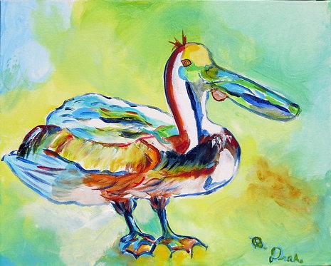Sylvester Pelican by Betsy Drake Hamilton