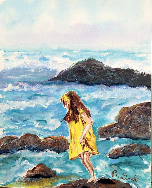 Girl on the Rocks by Betsy Drake Hamilton