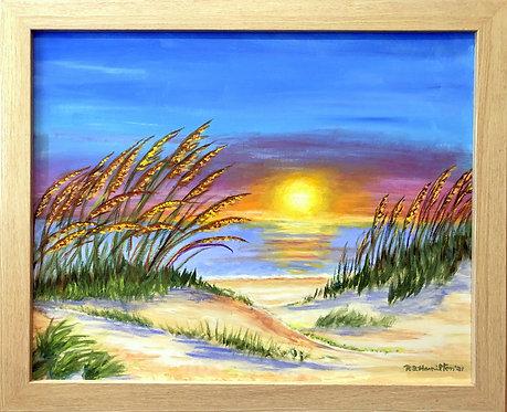 Sea Oates Sunrise by Dick Hamilton
