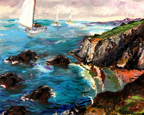 Sailing the Cliffs by Betsy Drake Hamilton