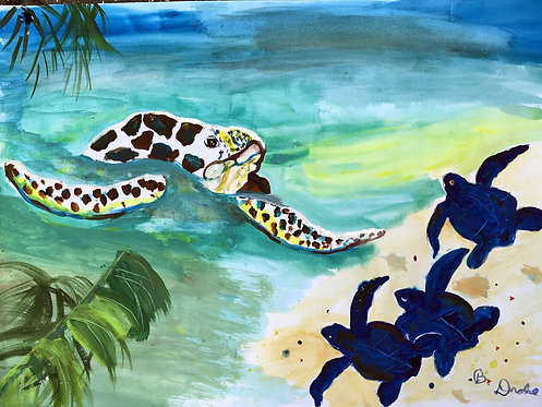 Mother Turtle by Betsy Drake Hamilton