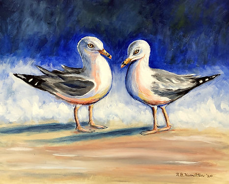 Two Sea Gulls by Dick Hamilton