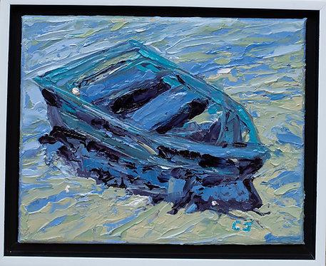 Blue Boat by Cindy Jenkins