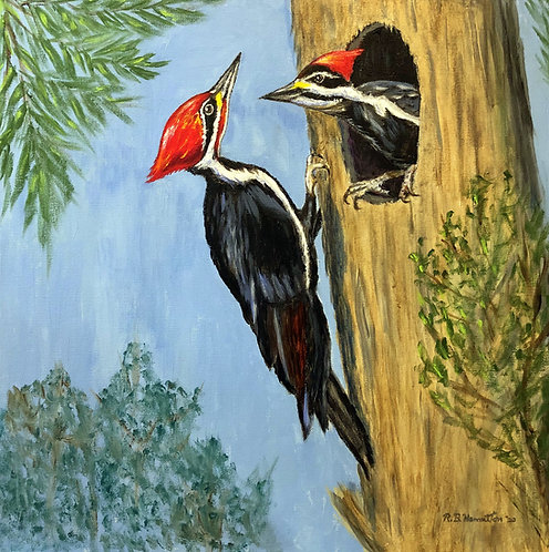 Pleated Woodpeckers by Dick Hamilton