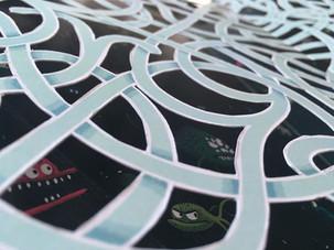 Les super labyrinthes de l'espace - détail