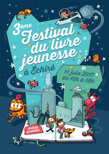 Affiche Festival du Livre d'Échiré.
