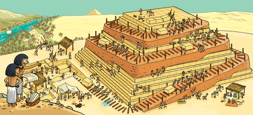 Le chantier de la pyramide - Les Curionautes - Milan Presse