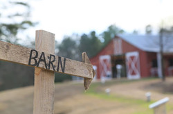 Rustic barn party sign