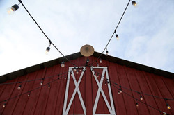 Barn with cafe lights
