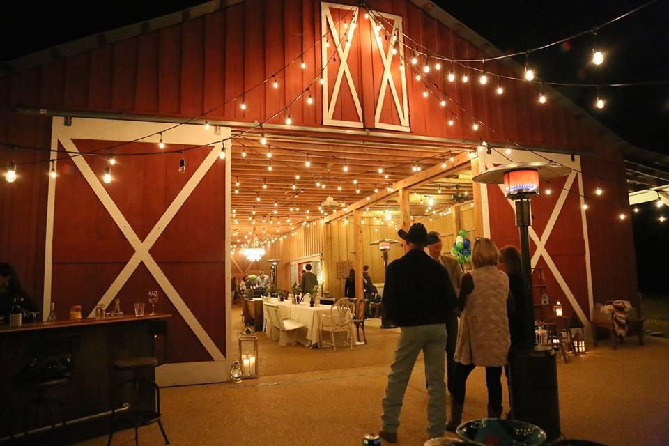 Cowboy at barn party
