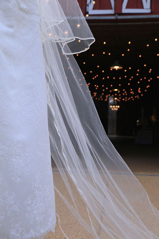 Barn aisle with veil
