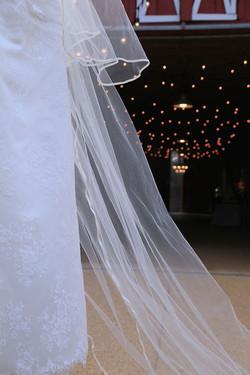Barn aisle with veil