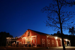 East of barn at night