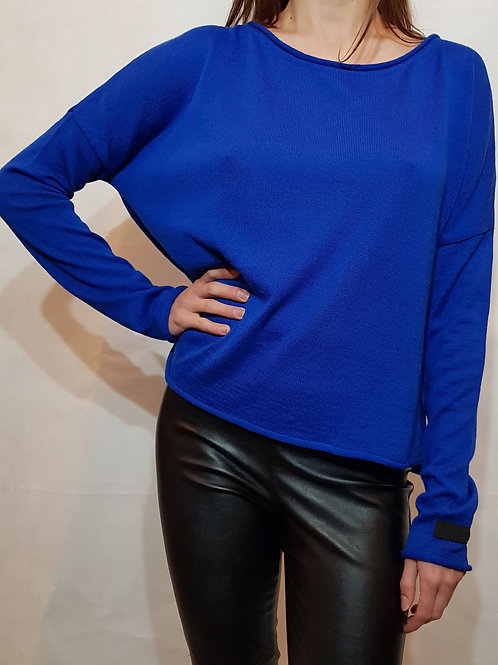 Sweter classic Bunt of color royal blue