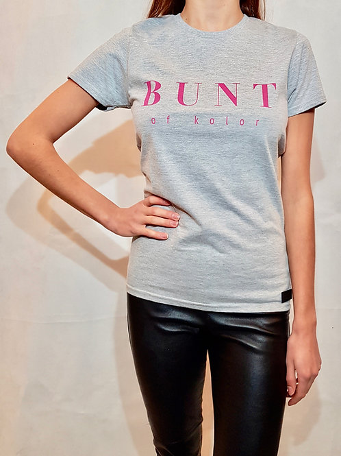 Koszulka damska Bunt of kolor szara