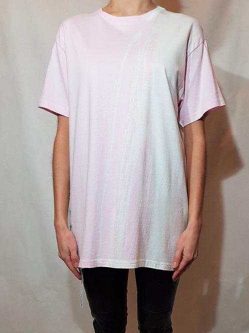 T-shirt fukur-O! różowy odbarwiany