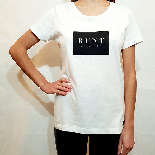 Koszulka damska Bunt of kolor logo biała