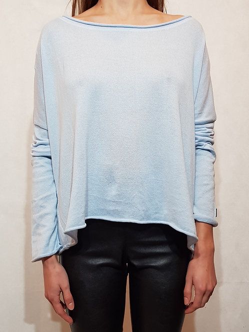 Sweter classic Bunt of color sky blue