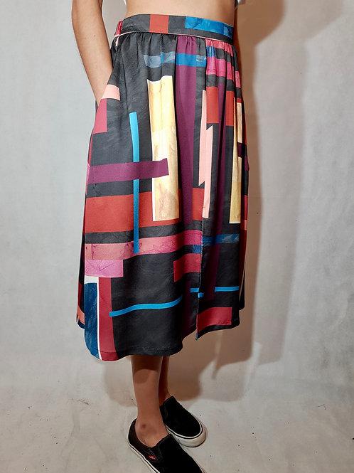 Spódnica kolorowa graficzna Bucle