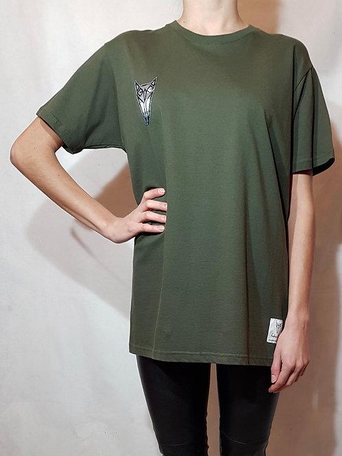 T-shirt oliwkowy fukur-O!
