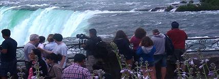 People at Niagra Falls