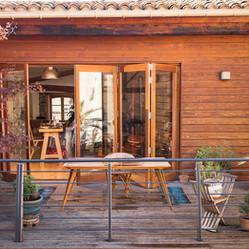 Open patio doors