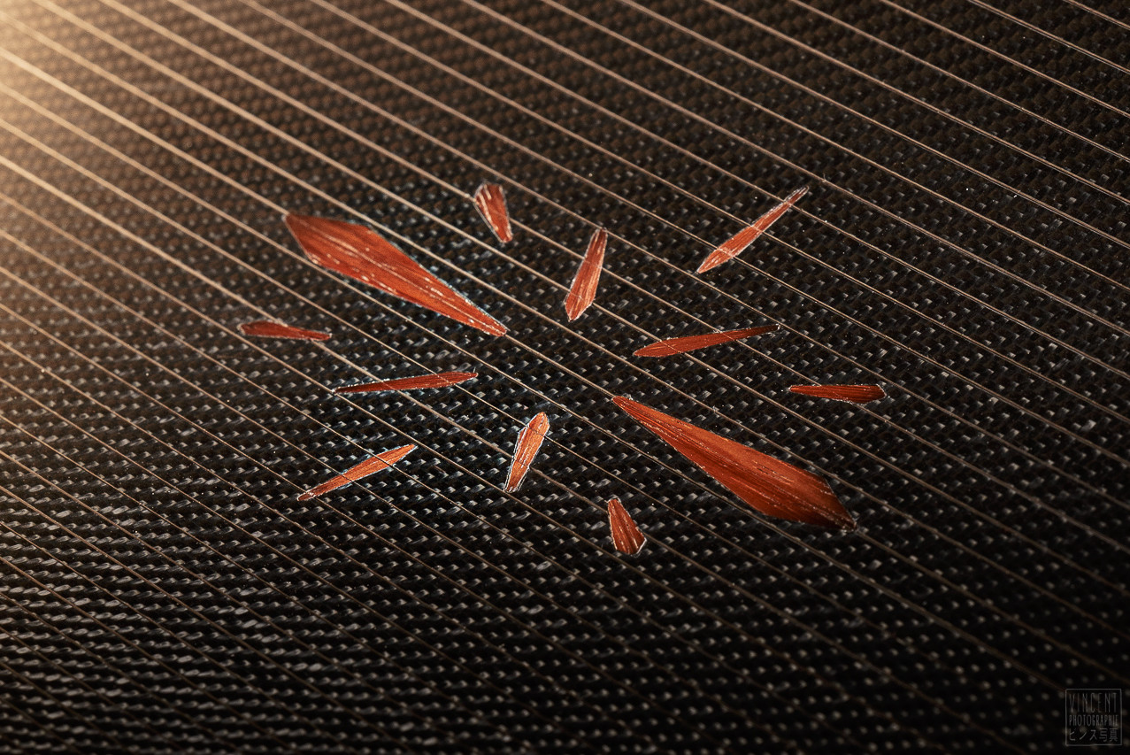Carbon marquetry