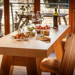 Kitchen island « Etabli », solid maple.