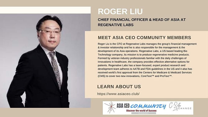 Chief Financial Officer & Head of Asia