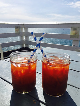 Bloody Mary's on a sunny, winter's day