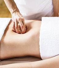 woman having deep abdominal colon massage / visceral.