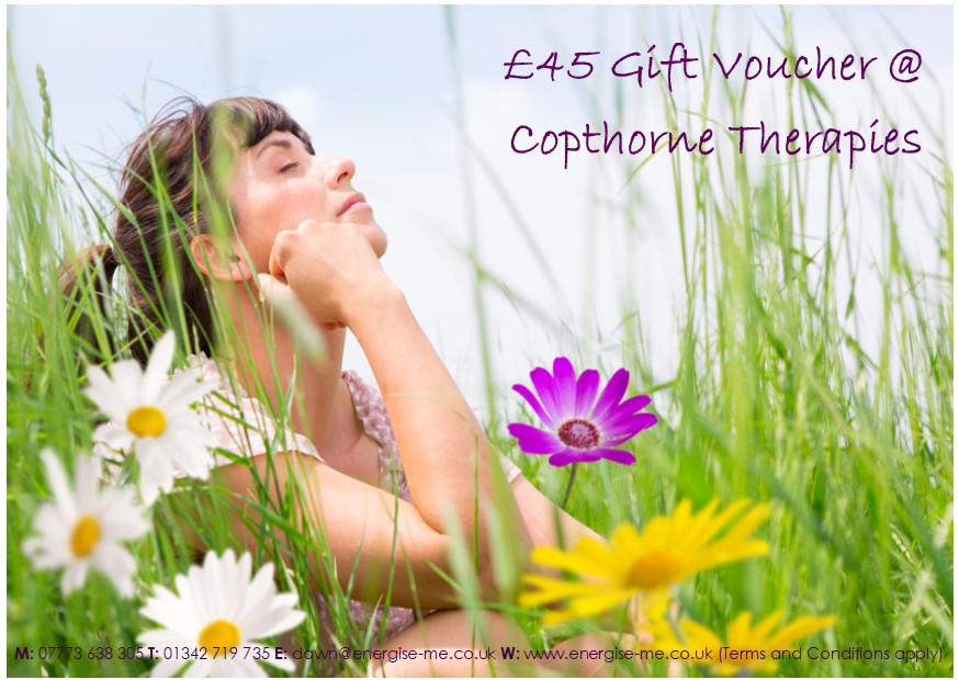 Gift Voucher with lady sitting and dreaming in corn field