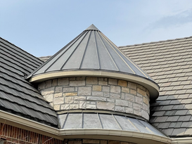 Standing seam metal roof installation