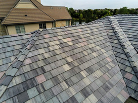 New tile roof installation