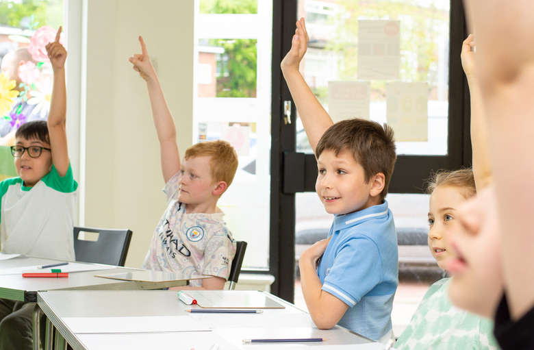 """""""Pick me! Pick me!"""" - we love it when kids are excited to learn"""
