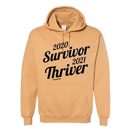 2021 Thriver Hoodie (Cursive) - Gold