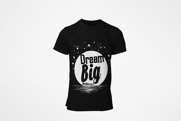 Dream Big Moon T-Shirt (Black/White)
