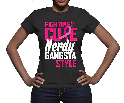 Fighting for the Cure Black T-Shirt