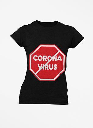 Stop Corona Virus (COVID-19) T-Shirt (Red/White)