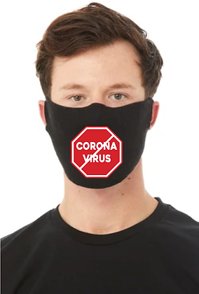 Stop Corona Virus (COVID-19) Face Mask (Red/White)