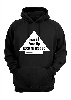 Level Up Hoodie (Black/White)