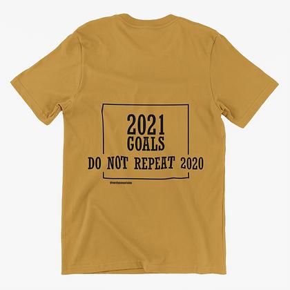 2021 Goals Tshirt (Block) - Gold