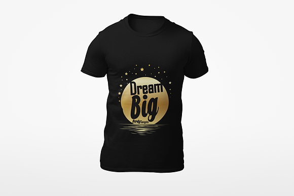 Dream Big Moon T-Shirt (Black/Gold)