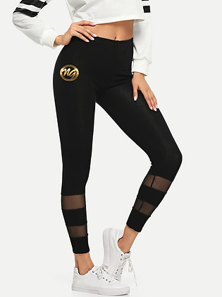Cursive NG Black Mesh Leggings