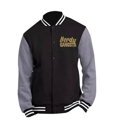 Nerdy Gangsta ™ Glitter Letterman Jacket (Unisex)