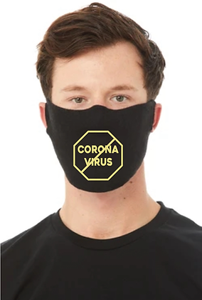 Stop Corona Virus (COVID-19) Face Mask (Black/Gold)