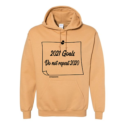 2021 Goals Hoodie (Note) - Gold