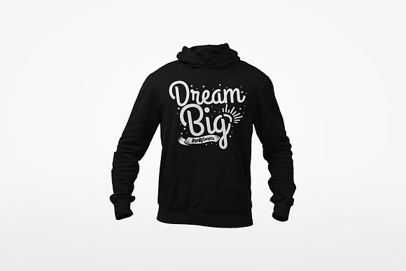 Dream Big Hoodie (Black/White)