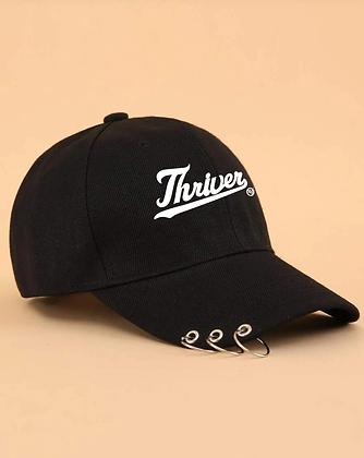 Black Thriver Grommet Baseball Cap