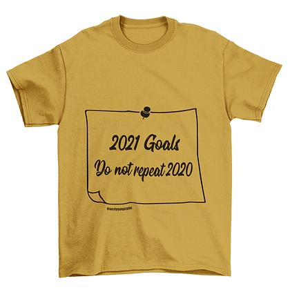 2021 Goals Tshirt (Note) - Gold